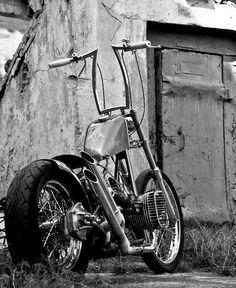 Old school chopper Vintage Motorcycles, Custom Motorcycles, Custom Bikes, Cars And Motorcycles, Triumph Motorcycles, Bobber Bikes, Bobber Motorcycle, Girl Motorcycle, Motorcycle Quotes
