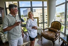 Downsizing baby boomers increasingly choose urban apartments with amenities. Urban Apartment, Rental Property, Condominium, Mom And Dad, Condos, Competition, Parents, Dads, Marketing