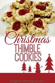 Christmas Thimble Cookies