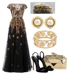 A fashion look from August 2017 featuring flared dress, black sandals and man bag. Browse and shop related looks. Prom Outfits, Classy Outfits, Chic Outfits, Fashion Outfits, Royal Fashion, Look Fashion, Pretty Dresses, Beautiful Dresses, Reign Dresses