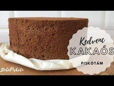 Kedvenc Kakaós Piskótám🥚🍫 - Olajos piskóta 4 tojásból - BebePiskóta - YouTube Baking, Sweet, Youtube, Food, Cakes, Candy, Cake Makers, Bakken, Essen