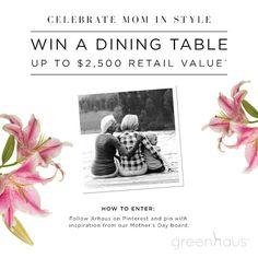 It only comes but once a year so make it count. We are giving one lucky person a chance to show mom some love in a picture-perfect way.