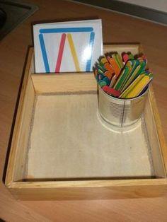 Diese Idee habe ich im Internet gesehen und auch gleich für meine Kindergartenkinder ausprobiert. Sie haben viel Spaß daran ...