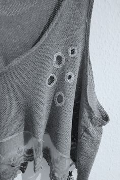 {Gastbeitrag} Stoffspielereien: Visible Mending - made with Blümchen Visible Mending, Shirts, Coat, Jackets, Fashion, Monogram, Embroidery, Flowers, Down Jackets