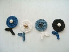 Foto: かぎ編みでつくる丸花ブローチ