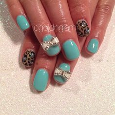 #shellac  #love   #leopardnails -  cgoldnglam