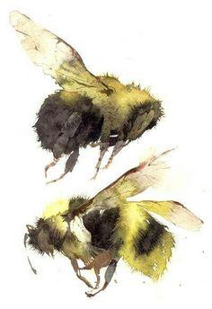 Акварель. Пчела
