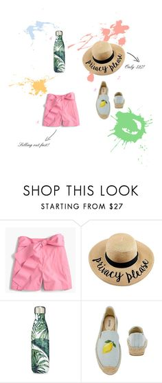 """Color Your Summer"" by bowlinesandlace-1 on Polyvore featuring J.Crew and S'well"