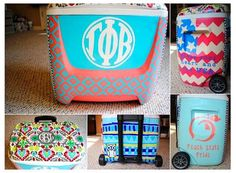 Hand Painted Cooler: 12 quart by TheGirlsInPearls on Etsy