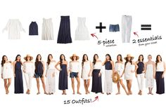 Cayman Island Collection: 5 items = 15 outfits