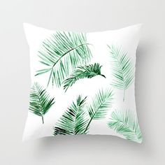 Palm Leaves Outdoor Throw Pillow Cover palm outdoor by lake1221