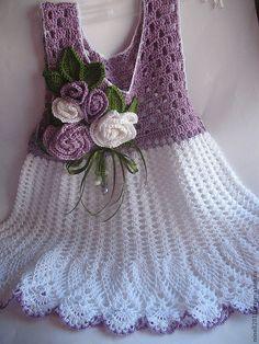 Одежда для девочек, ручной работы. Ярмарка Мастеров - ручная работа Сарафанчик для маленькой модницы сиреневый с белым. Handmade.