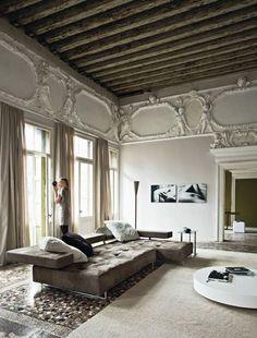 modern grench living room