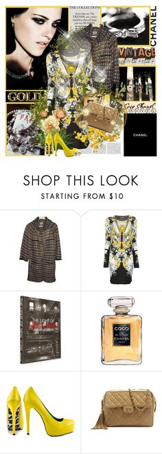 """""""''Elegance does not consist in putting on a new dress. Coco Chanel''"""" by purplecherryblossom ❤ liked on Polyvore featuring Victoria Beckham, Chanel, Roberto Cavalli, Assouline Publishing and Mia Limited Edition"""