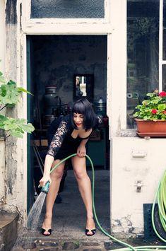 A Monica Bellucci inspired private portrait shoot in Paris..