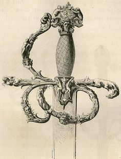 Renaissance sword from the elaborate and famous collection of M. le comte de Nieuwerkerke, presented at the1867 Exhibition.