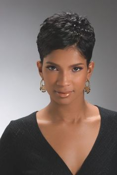Buy this short pixie wigs for black women lace front wigs human hair wigs african american wigs the same as the hairstyles in picture Short Pixie Haircuts, Cute Hairstyles For Short Hair, Wig Hairstyles, Curly Hair Styles, Natural Hair Styles, Short Sassy Hair, Super Short Hair, Short Hair Cuts, Black Hair Cuts