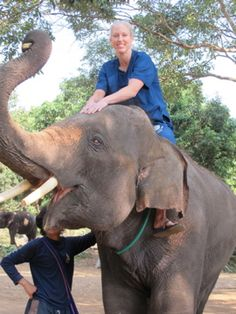 My first ride with Tonji at Baanchang Elephant Park in Chiang Mai, Thailand. :)