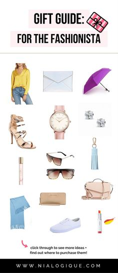 Gift Guide: For The Fashionista | 20 gorgeous gift ideas for the fashion lover in your life | girlfriend, wife, mother, aunt, coworker, friend, birthday gift ideas, christmas gift ideas, valentines day gift ideas, gifts for her