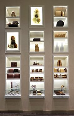 minimalist spa retail product display design - Google Search: