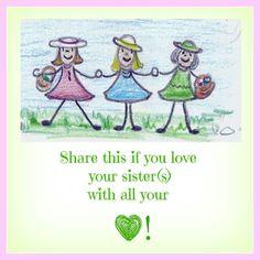 Love my sister's, Happy siblings day ♡