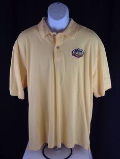 NASCAR Yellow Daytona 500 2008 Memorabilia Polo Shirt Size XL Ash worth 50 Years #Ashworth #PoloRugby