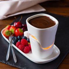 Hot pot set ceramic Hot pot Cheese Chocolate Fondue Set by Menu ice cream Hot pot Present candle and forks…