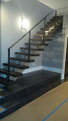 modern staircase we completed this week suburban_steel suburbansteelsupply suburbansteel staircase
