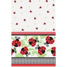 "Ladybug Plastic Tablecloth, 84"" x 54"""
