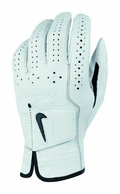 Nike Golf Men's Classic Feel Right Hand Regular Glove (White/Black, Large) by Nike. $12.95. This NikeGolf Men's Classic Feel Glove features premium cabretta leather tanning process provides a soft, supple feel along with excellent fit, grip and durability. Perforated fingers provide enhanced breathability and a better range of motion. New angled comfort tab design gives a superior ergonomic fit, and our customized fitting system is great for all hand shapes and size...