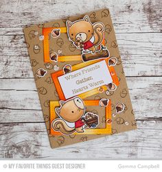Harvest Buddies Stamp Set and Die-namics, Single Stitch Line Rectangle Frames Die-namics - Gemma Campbell  #mftstamps