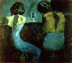 """the-night-picture-collector: """"""""Pablo Picasso, Two Women at a Bar, 1902 """" """""""