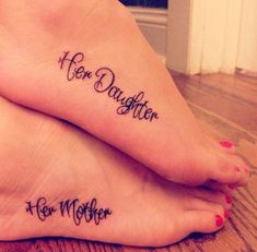 Mother Daughter Foot Tattoos