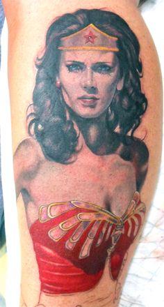 Wonder Woman Tattooist: Daniel Brandt  Electric Expressions Tattoo Studio  Margate, QLD, Australia  PH: (07) 38895966