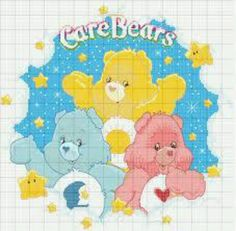 Care Bears Cross Stitch For Kids, Cross Stitch Love, Cross Stitch Patterns, Care Bears, Stitch Cartoon, C2c, Plastic Canvas Patterns, Hobbies And Crafts, Cross Stitching