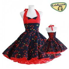 Hey, I found this really awesome Etsy listing at https://www.etsy.com/listing/181129435/50s-vintage-dress-navy-blue-red-cherries