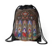 Stained Glass Windows - Sacred Heart Cathedral, Bendigo Drawstring Bag