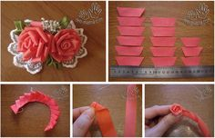 DIY Creative Ribbon Rose LIKE Us on Facebook == https://www.facebook.com/UsefulDiy
