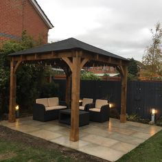 """New patio and gazebo looking good :) Thanks to Craig and Chris from Dunster House they were fab with the 2 man delivery option"" -Daisy Pugh"