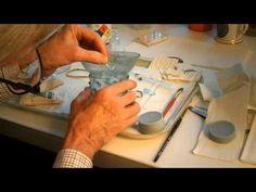 Restauración de una pieza de vidrio medieval - s. XIII/XIV Prunted Beaker Restoration - Part One - YouTube