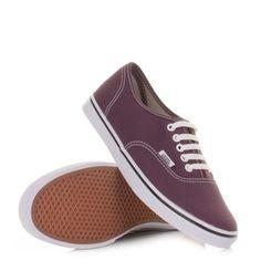 Vans Authentic Lo Pro Shoes - Sweet Grape White. £50