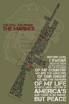 United States Marine Corps Poster USMC w/ by StarkMeansStrong, $15.00