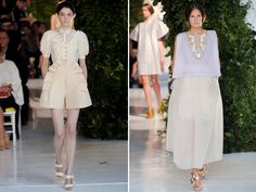 The garment on the left reminds me of something for a sweet tea party in Wonderland.  |  Delpozo Spring 2014
