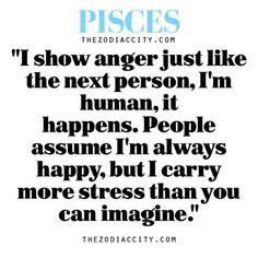 Zodiac Pisces thought. Not always true, but it happens. Pisces And Aquarius, Pisces Traits, Astrology Pisces, Pisces Quotes, Zodiac Signs Pisces, Pisces Woman, Zodiac Horoscope, Zodiac Facts, My Zodiac Sign