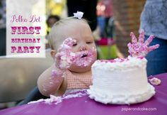 Paper and Cake Printable colorful polka dot birthday party