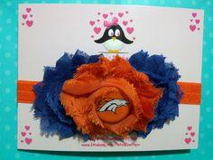Denver Broncos headband, football headband, baby headband, infant headband, toddler headband. $12.00, via Etsy.