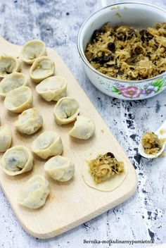 Polish Recipes, New Recipes, Polish Food, Ravioli, Winter Holidays, Holidays And Events, Polish Christmas, Magic Recipe, Dumplings