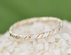 Midi Ring Knuckle Ring Two Toned Twist by TheJewelryGirlsPlace