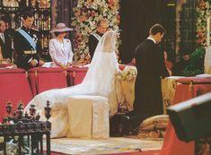 Zeit der Zeremonie vor dem Hochaltar der Kathedrale von Barcelona hochzeit Infantin Cristina von Spanien mit Iñaki Urdangarin 4 Oktober 1997