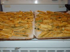 Fried Zucchini Batter.  Crispy batter great on all kinds of things.  Argo recipe from the 80's.  I love it!